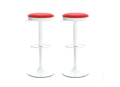 Lot de 2 tabourets de bar design rouges JANUS