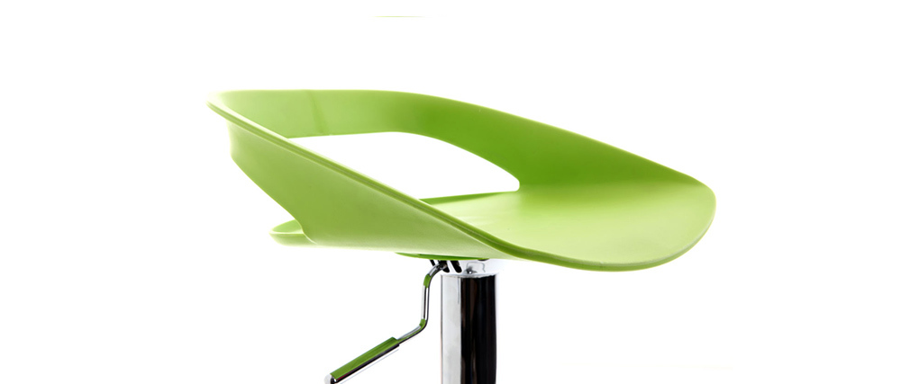Lot de 2 tabourets de bar design vert PHENIX
