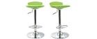 Lot de 2 tabourets de bar design verts NOVA