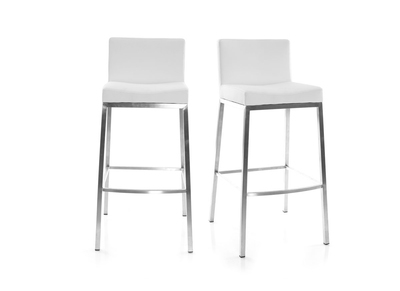 Lot de 2 tabourets design blanc Epsilon