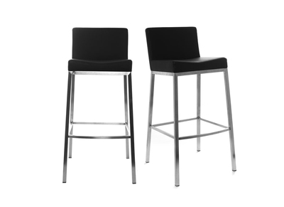 Lot de 2 tabourets design noir Epsilon