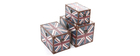 Lot de 3 boites imprimées UK gigognes PICADILLY