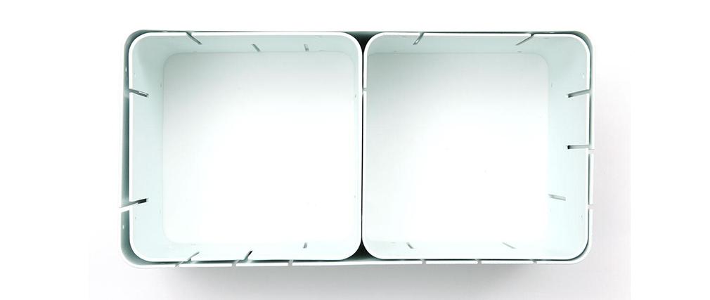 Lot de 3 étagères design blanches modulables KLIK S