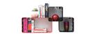 Lot de 3 étagères design rouges et noires modulables KLIK S