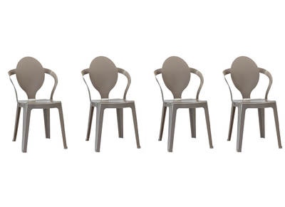 Lot de 4 chaises design grises SVELTE