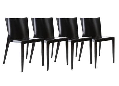 Lot de 4 chaises design noires MINDY