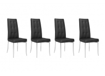 Lot de 4 chaises design noires MOLLY