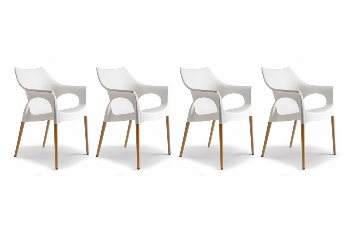 Lot de 4 chaises design scandinave scanie miliboo - Lot de 4 chaises design ...