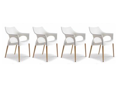 Lot de 4 chaises design scandinave SCANIE