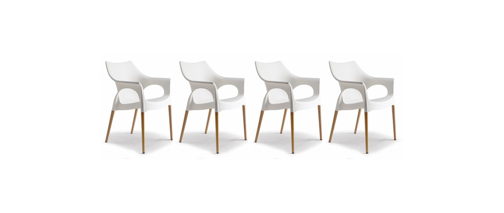 Lot De 4 Chaises Design Scandinave Scanie Miliboo