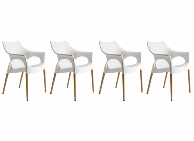 Lot de 4 chaises design scandinave SCANIE