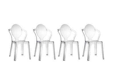Lot de 4 chaises design transparentes SVELTE