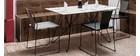 Lot de 4 chaises d'extérieur design métal blanc TENERIFE