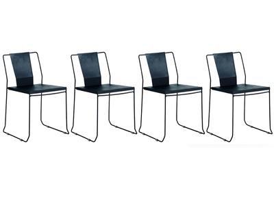 Chaise de jardin meubles de jardin pas cher noir miliboo - Chaises exterieur design ...