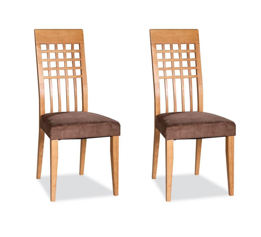 lot de deux chaises bois ch ne clair rebecca miliboo. Black Bedroom Furniture Sets. Home Design Ideas