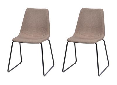 Lot de deux chaises design beiges CERSEY