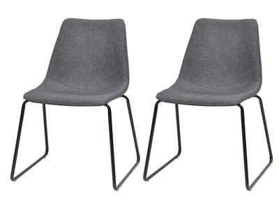 Lot de deux chaises design grises CERSEY