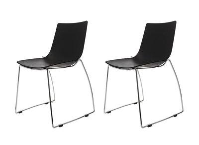 Lot de deux chaises design luge noires SORAYA