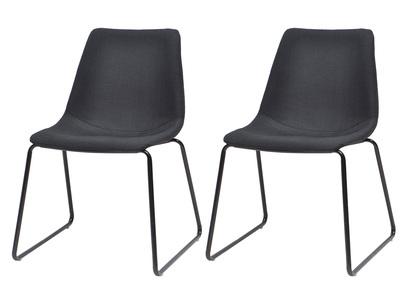 Lot de deux chaises design noires CERSEY