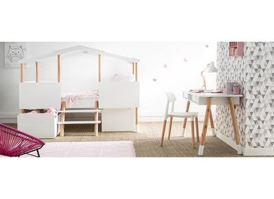 Lot de deux chaises design scandinave blanches GILDA