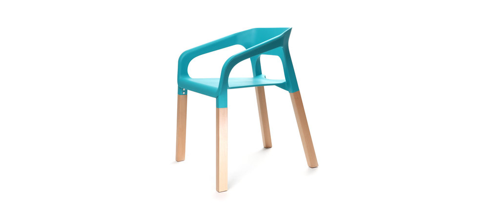 Lot de deux chaises design scandinave turquoises HELIA