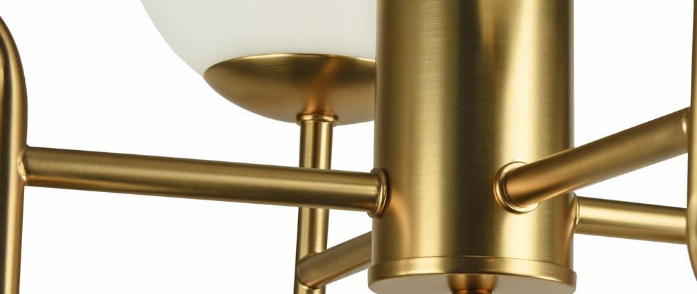 Lustre design en métal doré et en verre AUREOL