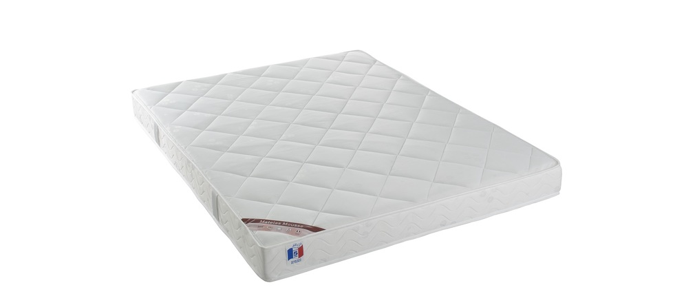 matelas mousse 160x200 cm haute densit confort plus ypnos miliboo. Black Bedroom Furniture Sets. Home Design Ideas