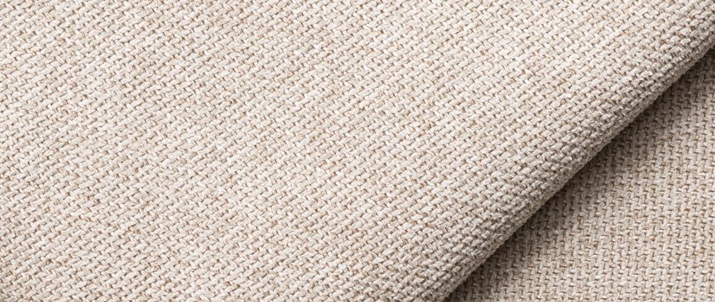 Méridienne angle droit en tissu beige PLURIEL