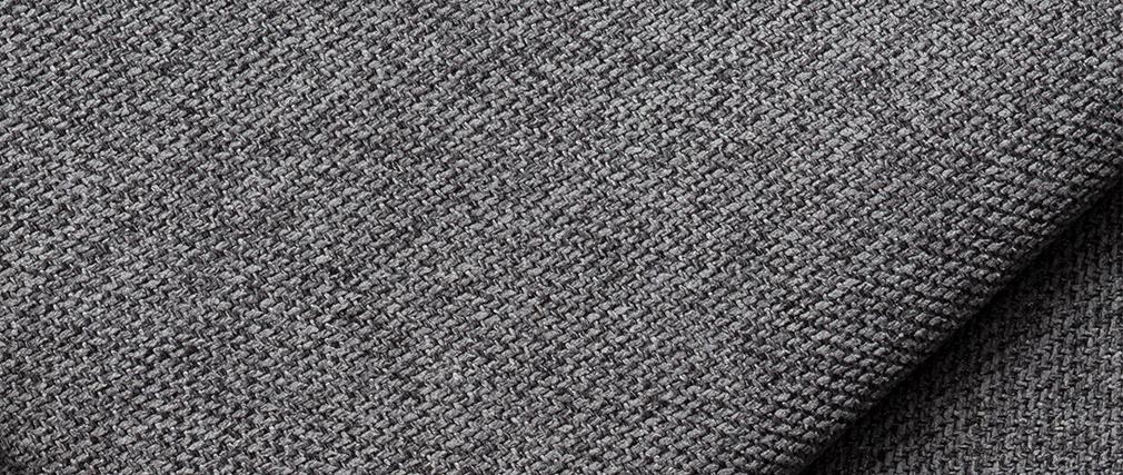 Méridienne angle droit en tissu gris anthracite PLURIEL