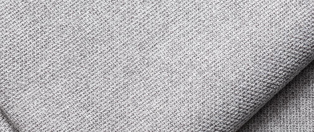 Méridienne angle droit en tissu gris clair PLURIEL