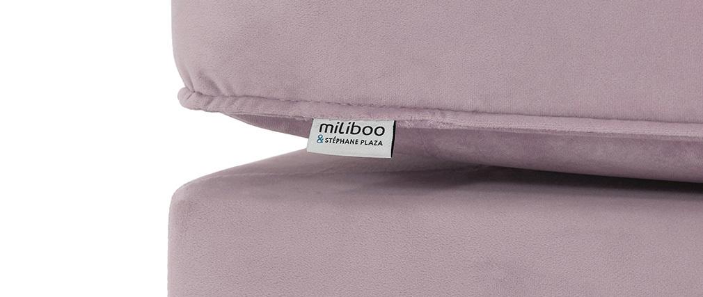Méridienne en velours rose COZY - Miliboo & Stéphane Plaza