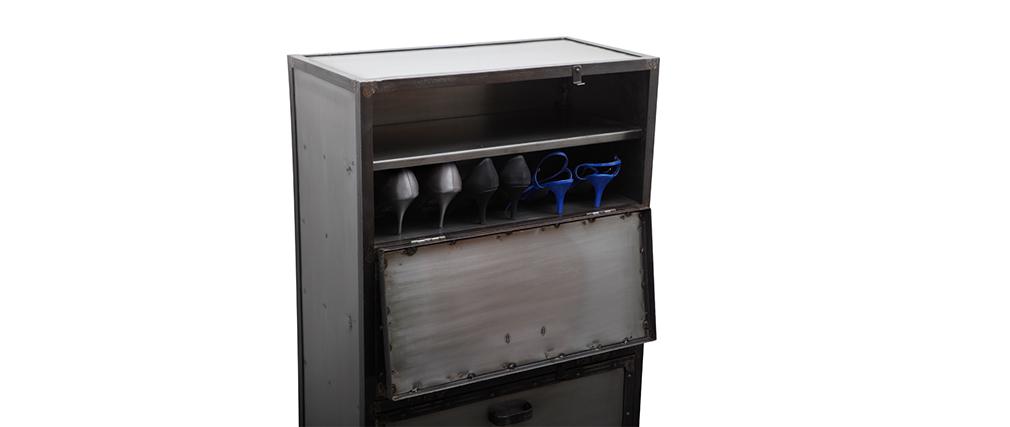 Meuble à chaussures / commode industriel métal FACTORY
