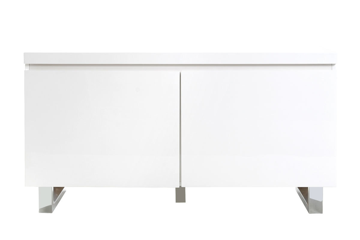 Meuble d 39 appoint d 39 entr e blanc laqu juno miliboo for Meuble bar laque blanc