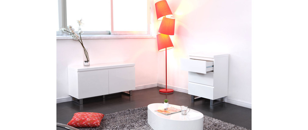 meuble d 39 appoint d 39 entr e blanc laqu juno miliboo. Black Bedroom Furniture Sets. Home Design Ideas