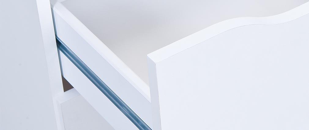 Meuble de rangement design 4 tiroirs blanc DRAW