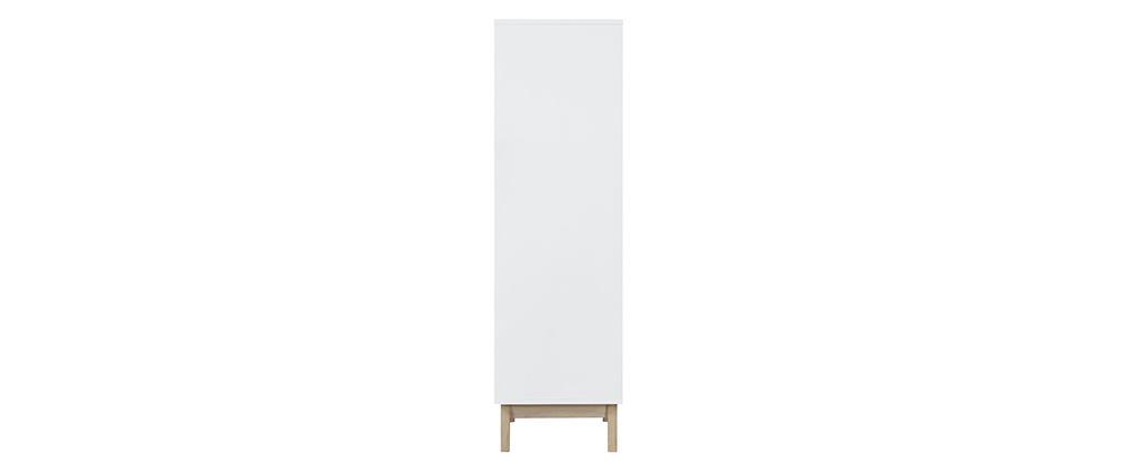 Meuble de rangement design blanc 3 portes LEENA
