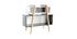 Meuble de rangement design blanc, gris et bois WOOD TANG