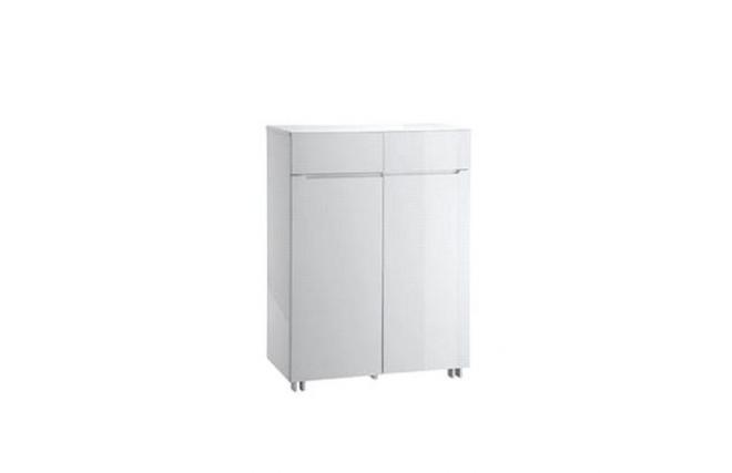 Meuble De Rangement Moderne Laqu Blanc 2 Portes Et 2