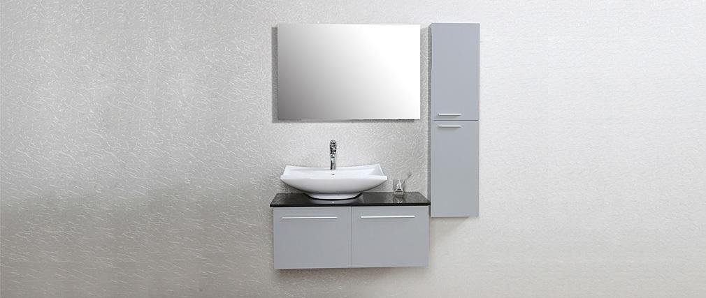 tableau vegetal salle de bain meuble de salle de bain design laqu gris mat meuble sous vasque - Tableau Design Salle De Bain