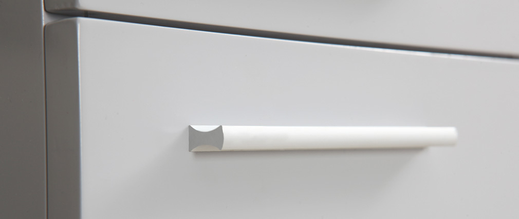 Meuble de salle de bain design laqué gris mat : meuble sous vasque ...