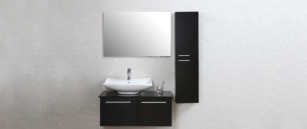 meuble salle bain noir laque. Black Bedroom Furniture Sets. Home Design Ideas