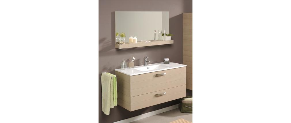 meuble de salle de bain meuble sous vasque tablette miroir 100cm vania miliboo. Black Bedroom Furniture Sets. Home Design Ideas