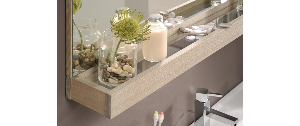 meuble de salle de bain meuble sous vasque tablette miroir 80cm vania miliboo. Black Bedroom Furniture Sets. Home Design Ideas