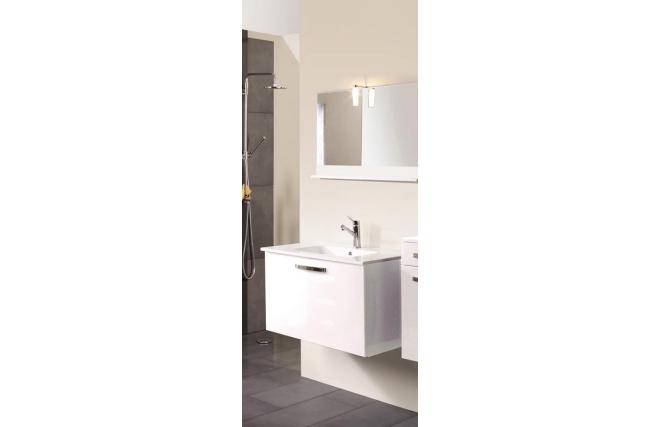 Meuble de salle de bain meuble sous vasque vasque for Meuble salle de bain blanc laque