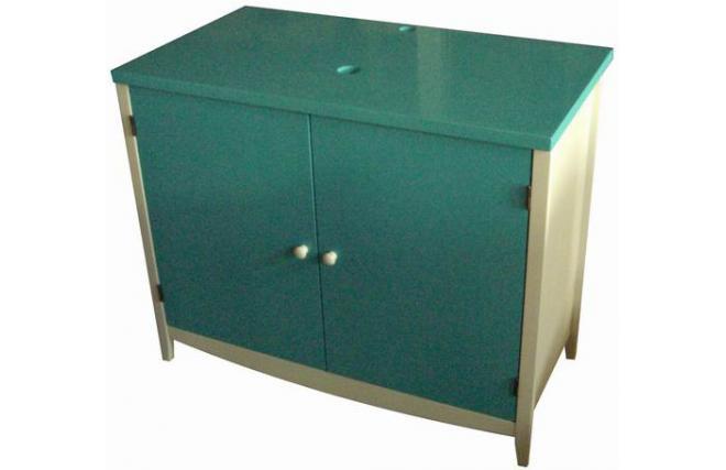 Meuble de salle de bain sous vasque TROPIC - coloris bleu lagon ...