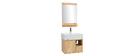 Meuble de salle de bain : vasque, meuble sous-vasque et miroir EVAN