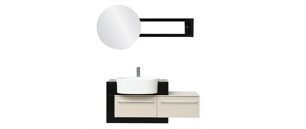 Meuble de salle de bain : vasque, meuble sous vasque et miroir MARLO