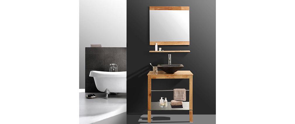 Meuble de salle de bain vasque meuble sous vasque - Miroir etagere salle de bain ...