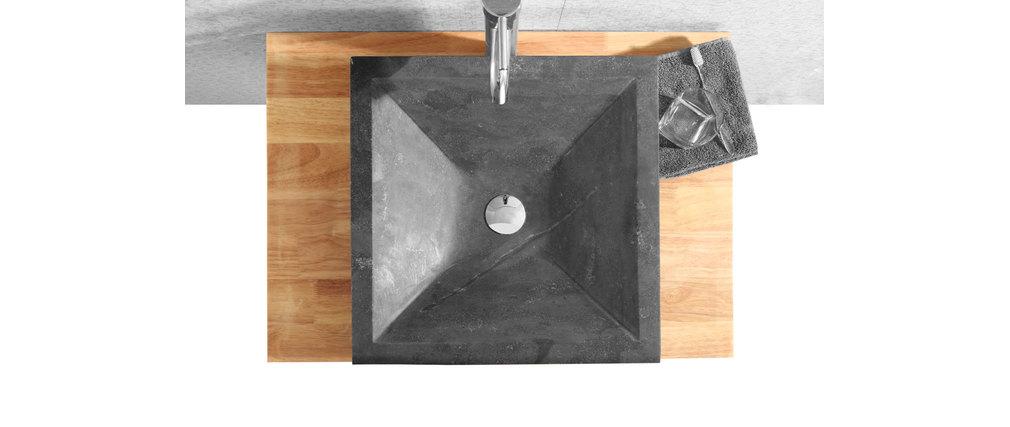 meuble de salle de bain vasque meuble sous vasque tag re et miroir ellan miliboo. Black Bedroom Furniture Sets. Home Design Ideas