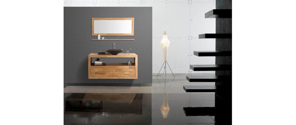 meuble de salle de bain vasque meuble sous vasque tag re et miroir mylan miliboo. Black Bedroom Furniture Sets. Home Design Ideas